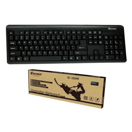 Klawiatura przewodowa VAKOSS TK-103PK USB czarna