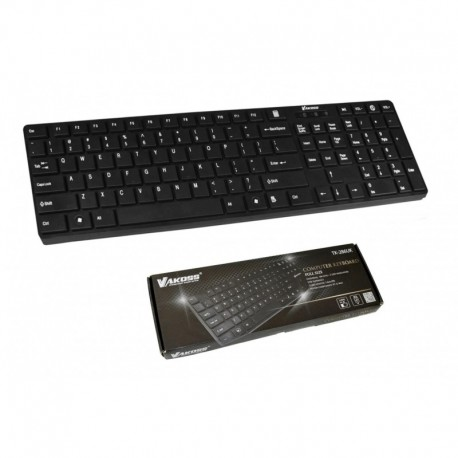 Klawiatura przewodowa VAKOSS TK-286UK USB SLIM czarna