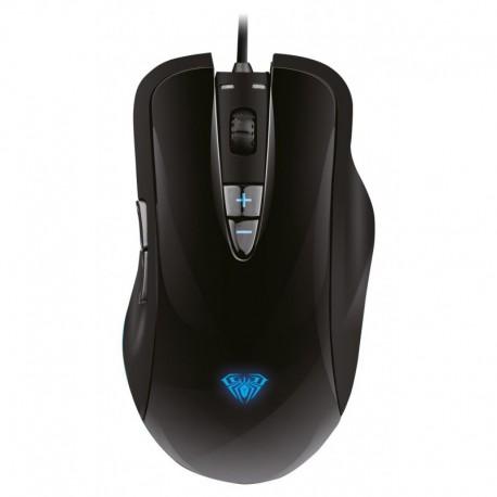 Mysz przewodowa Acme Aula Ogre Soul optyczna Gaming czarno-niebieska