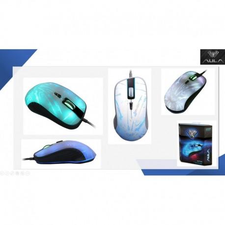 Mysz przewodowa ACME Aula Hunting optyczna Gaming biała