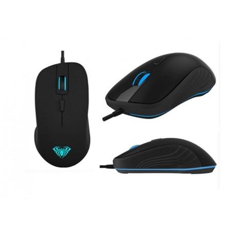 Mysz przewodowa ACME Aula Tantibus Gaming optyczna czarno-niebieska