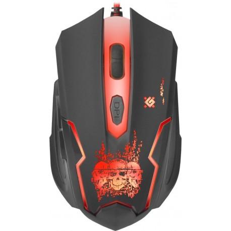 Mysz przewodowa DEFENDER SKULL GM-180L 3200dpi 6P + podkładka Gaming + GRA