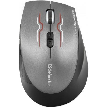 Mysz bezprzewodowa DEFENDER MAGNIFICO MM-555 IR-laserowa 2000dpi 7P czarno-grafitowa