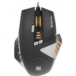 Mysz przewodowa DEFENDER WARHEAD GM-1760 optyczna 2500dpi Gaming czarno-grafitowa