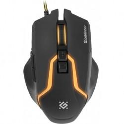 Mysz przewodowa DEFENDER WARHEAD GM-1750 optyczna 3200dpi Gaming czarna