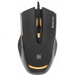 Mysz przewodowa DEFENDER WARHEAD GM-1710 optyczna 3200dpi Gaming czarna