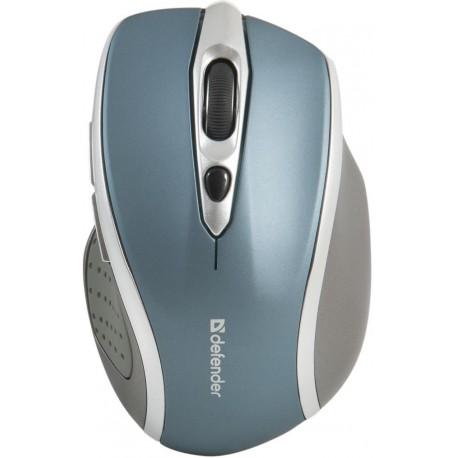 Mysz bezprzewodowa DEFENDER SAFARI MM-675 optyczna 1600dpi niebiesko-srebrna