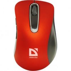 Mysz bezprzewodowa DEFENDER DATUM MM-075 optyczna 1000dpi 5P czerwono-czarna