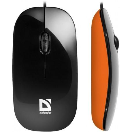 Mysz przewodowa DEFENDER NETSPRINTER MM-440 optyczna 1000dpi czarno-pomarańczowa