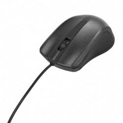 Mysz przewodowa e5 M0353 optyczna USB czarna
