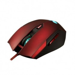 Mysz przewodowa E5 FlashFire EX-100 Acuter optyczna Gaming czarno-bordowa