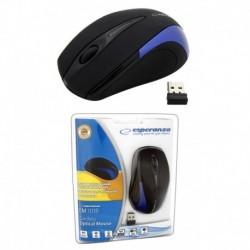 Mysz bezprzewodowa ESPERANZA optyczna ANTARES EM101B czarno-niebieska