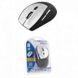 Mysz bezprzewodowa ESPERANZA ANDROMEDA EM123S optyczna srebrno-czarna