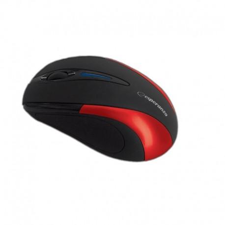 Mysz bezprzewodowa ESPERANZA ANTARES EM101R optyczna czarno-czerwona