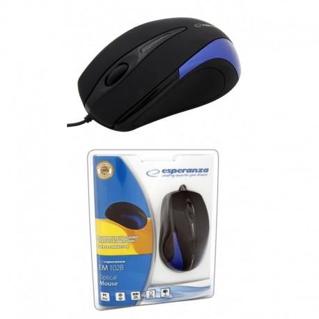 Mysz przewodowa ESPERANZA SIRIUS EM102B optyczna czarno-niebieska