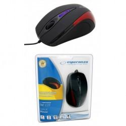 Mysz przewodowa ESPERANZA SIRIUS EM102R optyczna czerwona