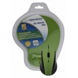 Mysz przewodowa Esperanza EM125G optyczna zielona z podkładką żelową