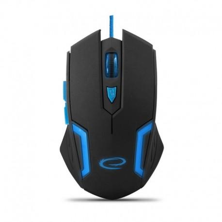 Mysz przewodowa Esperanza MX205 Fighter optyczna Gaming 6D usb czarno-niebieska