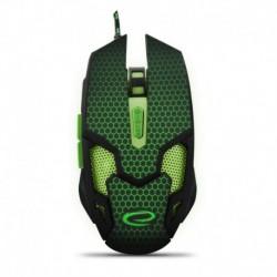 Mysz przewodowa Esperanza MX207 Cobra optyczna Gaming 6D usb czarno-zielona
