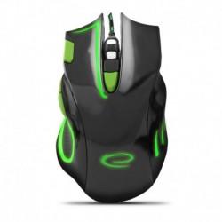 Mysz przewodowa Esperanza MX401 Hawk optyczna Gaming usb czarno-zielona