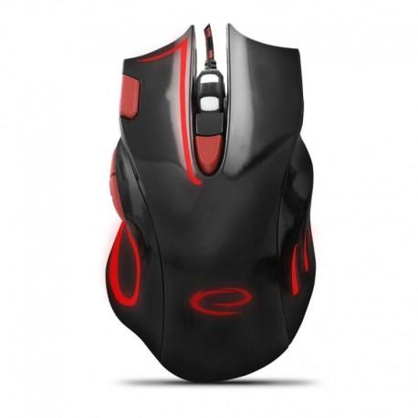 Mysz przewodowa Esperanza MX401 Hawk optyczna Gaming usb czarno-czerwona