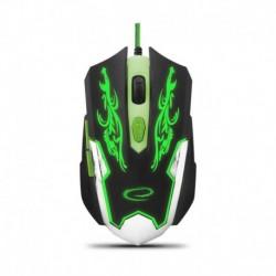 Mysz przewodowa Esperanza MX405 Cyborg optyczna Gaming 6D usb czarno-zielony