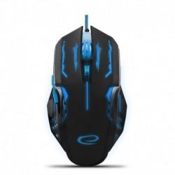 Mysz przewodowa Esperanza MX403 Apache optyczna Gaming 6D USB niebiesko-czarna