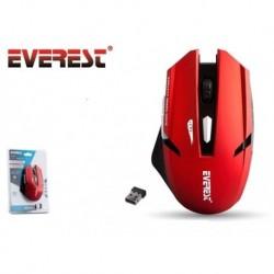 Mysz bezprzewodowa Everest KM-240 optyczna Gaming 1600DPI czerwona