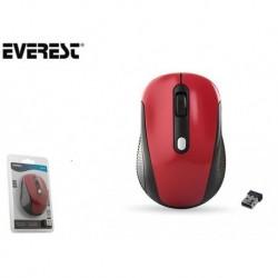 Mysz bezprzewodowa Everest SM-527 optyczna nano 800-1600dpi 2.4GHz czerwona