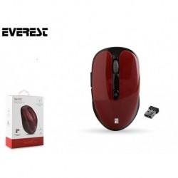 Mysz bezprzewodowa Everest SM-250 optyczna 2.5GHz 1600dpi czerwona