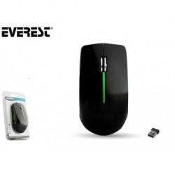 Mysz bezprzewodowa Everest SM-695 optyczna Nano 2.4GHz 1000dpi czarno-zielona