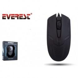 Mysz przewodowa Everest SM-313 optyczna Gaming LED czarna