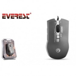 Mysz przewodowa Everest SM-707 optyczna Gaming 6D 800-2400DPI szara