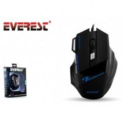 Mysz przewodowa Everest SM-770 optyczna Gaming 3200DPI 3LED czarna