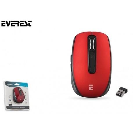 Mysz bezprzewodowa Everest CM-850 Pro optyczna 2.4 Ghz 800-1600dpi czerwona