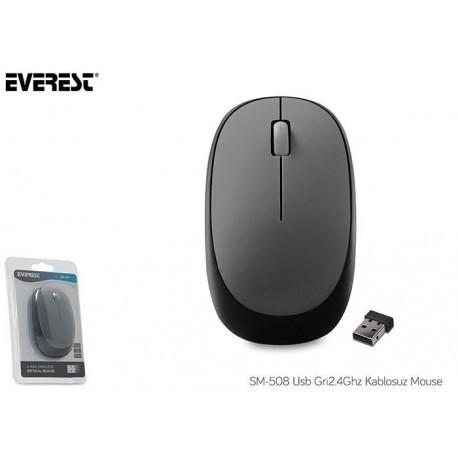 Mysz bezprzewodowa Everest SM-508 optyczna Nano 1200dpi szara