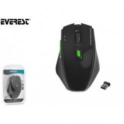Mysz bezprzewodowa Everest SMW-777 optyczna 1600DPI czarna