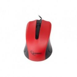 Mysz przewodowa GEMBIRD MUS-101-R optyczna 1-SCROLL USB czarno-czerwona