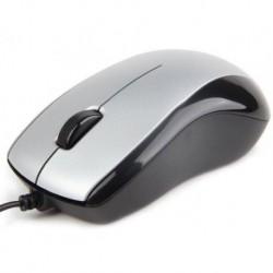 Mysz przewodowa GEMBIRD MUS-U-002 optyczna 1-SCROLL USB srebrno-czarna