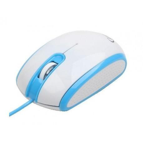 Mysz przewodowa GEMBIRD MUS-105-B optyczna 1-SCROLL USB biało-niebieska