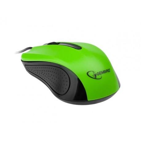 Mysz przewodowa GEMBIRD MUS-101-G optyczna 1-scroll usb czarno-zielona