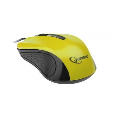 Mysz przewodowa GEMBIRD MUS-101-Y optyczna 1-scroll usb czarno-żółta