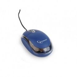 Mysz przewodowa Gembird optyczna 1-scroll niebiesko-przezroczysta