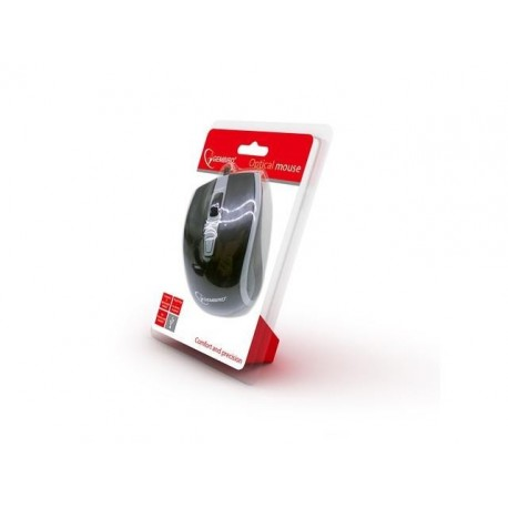 Mysz przewodowa Gembird optyczna 1-Scroll USB czarno-szara
