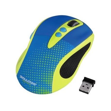 Mysz bezprzewodowa HAMA KNALLBUNT 2.0 optyczna niebiesko-żółta
