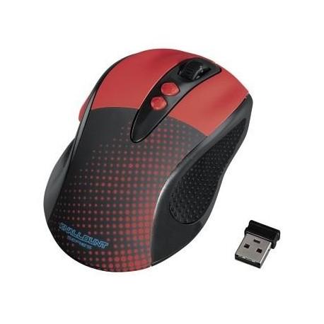 Mysz bezprzewodowa HAMA KNALLBUNT 2.0 optyczna czarno-czerwona