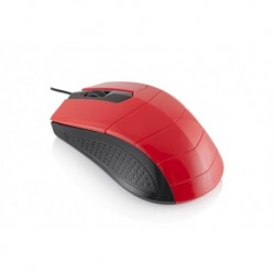 Mysz przewodowa LOGIC LM-13 optyczna czerwono-czarna