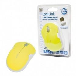 Mysz bezprzewodowa LogiLink ID0122 podróżna 2,4 GHz Autolink żółta