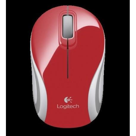 Mysz bezprzewodowa Logitech M187 optyczna biało-czerwona