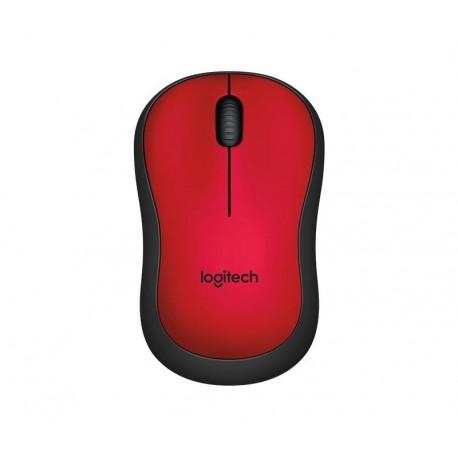 Mysz bezprzewodowa Logitech M220 Silent optyczna czerwona
